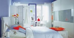 Giường ngủ không nên đặt giữa phòng