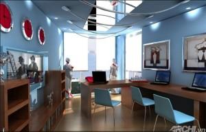Phối màu sơn văn phòng theo hướng hợp phong thủy .