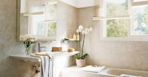 Để giảm bớt sự nặng nề do thế xấu này, bạn có thể trang trí phòng tắm tươi sáng hơn.