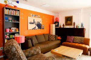 Màu cam cho ngôi nhà theo phong thủy.